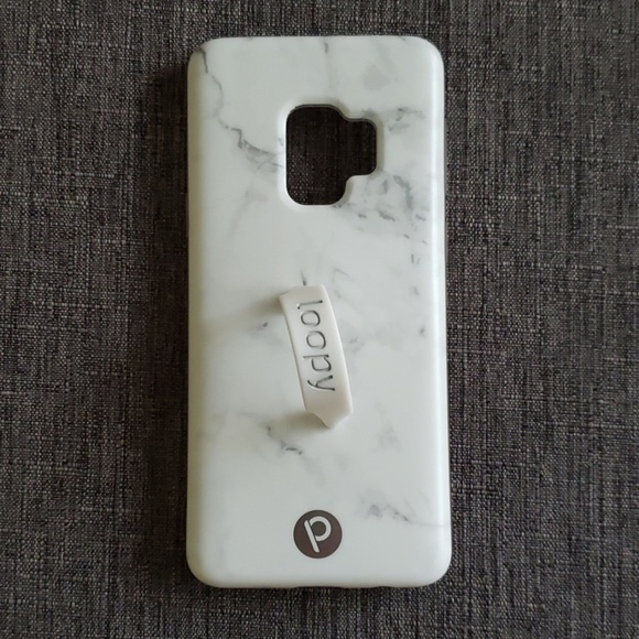 sports shoes 0f2a6 6d69e White Marble Loopy Case Samsung Galaxy S9